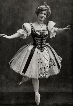Adeline Genée as Swanilda (Coppélia) at the Empire Theatre, Leicester Square, London, 1905.