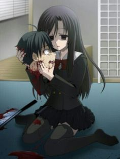 SCHOOL DAYS. okay. Let me start off by saying this is literally the WORST anime ever. Seriously. And this? Well this is just yandere anime girl Kotonoha Katsura with the head of stupid baka Makoto. This ending...woah.