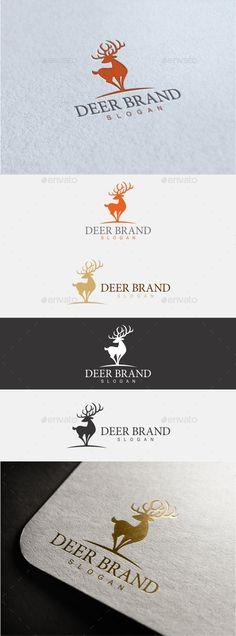 Deer Brand Logo  #deer vector #eps #head • Available here → http://graphicriver.net/item/deer-brand-logo/15846179?ref=pxcr