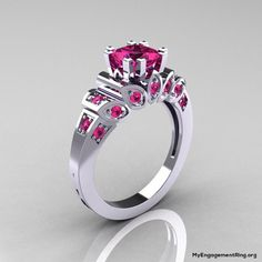 brilliant pink diamond engagement ring - My Engagement Ring