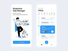 Task Schedule - Mobile App by Chayan Sarker on Dribbble Ui Design Mobile, Design Ios, Mobile Ui, Form Design, Graphic Design, Design Thinking, App Menu, Motion Design, Online Video Games