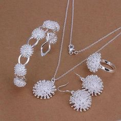 "FREE Hedgehog Jewelry Set ""HEDGEHOG"" Necklace, Earrings, Bracelet and Ring"