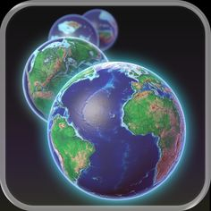 EarthViewer by Howard Hughes Medical Institute What did Earth's continents and oceans look like 250 million years ago, or 1 billion years ago for that matter? Can we say anything about Earth's climate as far back as our planet's origin?   Use your fingertips to scroll through Earth history for the last 4.5 billion years!  EarthViewer is like a time machine for exploring the deep history of planet Earth, a tool based on the latest scientific research.