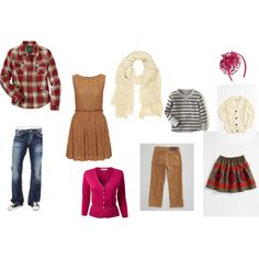 Fall Family Portraits on Polyvore featuring Woolrich, EAST, River Island, Peek, Ralph Lauren, Gap and Silver Jeans Co.