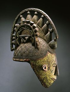 Maiden Spirit (Agbogho Mmuo) Helmet Mask Nigeria, Lgbo, North. Late 19th- early 20th centuries