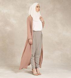 Dusty Rose Maxi Oversized Kimono - £44.99 : Inayah, Islamic Clothing & Fashion, Abayas, Jilbabs, Hijabs, Jalabiyas & Hijab Pins