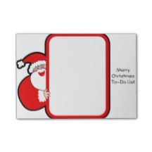 Merry #Christmas To-Do List Post it #Notes Santa Post-it® Notes