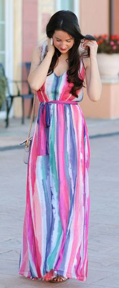 2400bd2ca041 Colorful Spring Maxi Dress from Jack by BB Dakota. Trendy Summer OutfitsCasual  ...
