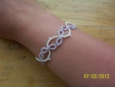 bridal bracelet briadal lace bracelet tatted lace by MamaTats, $12.00