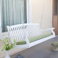 Pleasant Bay Curved Back Porch Swing - White (Walmart Marketplace - $169-199)