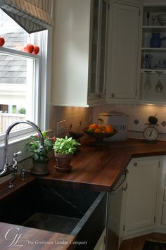 Wood countertops. John and I want these in our kitchen. I am not a fan of granite.