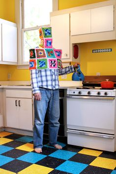 """""""Shannon in the Kitchen With Diffused Crocheted Mind"""" by Sarah Applebaum (© 2009)"""