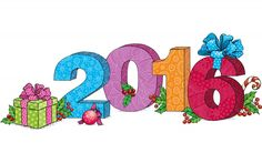anul nou 2016, cadouri, crăciun, animație
