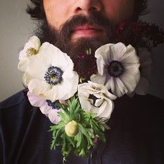 Beard care and grooming products for the royal man. Shop for the Beard Bib, shirts, hats and beard kits from BEARD KING™. Fear the Beard, Not the Mess™ Mens Facial, Facial Hair, Moustache, Glitter Beards, Flower Beard, A Well Traveled Woman, Flowers In Hair, Art Flowers, White Flowers