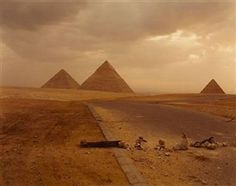 Richard Misrach, Blockade and Pyramids, 1989.