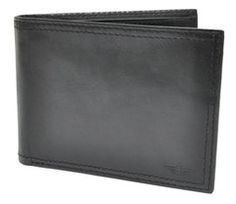 Dockers Black Genuine Leather Trifold Wallet w// 4 CC Slots /& 3pc Grooming Set