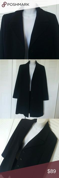 Larry Levine Maxi Wool Cashmere Coat - Size 10 PreOwned in excellent condition  Larry Levine Maxi Coat  Size 10 Long 3f 2' 80% Lambs Wool 20% Cashmere Larry Levine Jackets & Coats Trench Coats