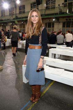 Olivia Palermo, Paris  Chloe 2014. love hair and skirt