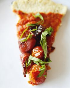 Roasted Tomato Cauliflower Crust Tart