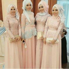 Hijab Dress Party, Hijab Style Dress, Party Gowns, Hijab Gown, Hijab Fashion, Modest Fashion, Fashion Dresses, Model Kebaya, Dress Brokat