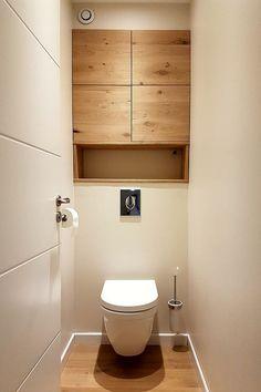 Idée décoration Salle de bain - wc avec placards en bois - ListSpirit.com - Leading Inspiration, Culture, & Lifestyle Magazine