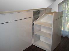 attic storage ideas / Rollregale // Tischlerei Klein: