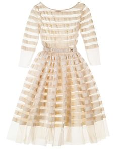 Stripe tulle dress by Tracy Reese