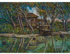 Robert Lyn Nelson  Childhood art  1973 Oil on Canvas  Oahu