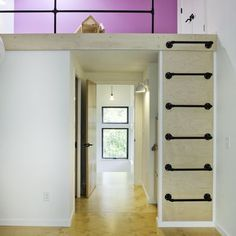 Althea Way House  kid's bedroom with pipe ladder to play/sleeping loft ILM design/build, general contractor Jacob Weinwand, photograph