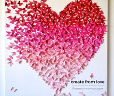 February means Valentine's Day craft for most of people.For today we gather a great collection of 10 Simple Ideas For Valentine's Day Craft! Kids Crafts, Diy And Crafts, Arts And Crafts, Kids Diy, Decor Crafts, Valentines Bricolage, Valentine Day Crafts, Diy Wall Art, Hanging Wall Art