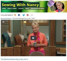 Absolute+Easiest+Way+to+Sew+on+Sewing+With+Nancy+|+Nancy+Zieman
