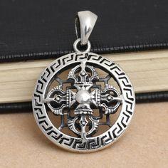 Black Jesus Christian Cross 925 Sterling Silver Charm