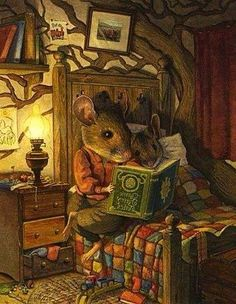 Reading ~ Up Late At Night, Reading By Candlelight ~ . - Reading ~ Up Late At Night, Reading By Candlelight ~ … stupid relationships also remind you that - Arte Peculiar, Reading Art, Fairytale Art, Fairytale Drawings, Woodland Creatures, Fairy Art, Children's Book Illustration, Whimsical Art, Cute Art