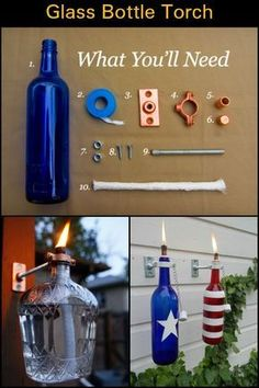 Make Good Use of Those Old Wine Bottles And Create Your Own Tiki Torches at Home