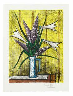 Bernard BUFFET (1928-1999) LILAS ET ARUMS Lithographie Sold 1 000€ #artauction
