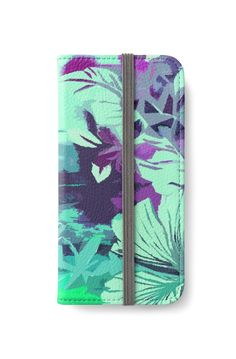 Hula Traffic iPhone Wallets by PolkaDotStudio l New. hand painted #tropical #Hawaiian #aloha #hibiscus #jungle gone wild.hip #trendy #fashion #accessory #iPhone #wallets• 20% off today on all in the store using Promo code TAKEOFF20. Also buy this artwork on wall #prints, #apparel, other #tech #accessories, #home #decor and more.