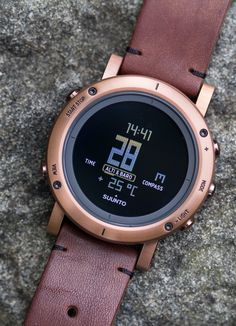 """Suunto Essential Copper Watch Review - by James Stacey - hands-on photos, video review, and expert insight - see it all on aBlogtoWatch.com """"As I prefer to spend my weekends either underwater or high on a mountain trail, my love of mechanical watches is often set aside for mission-specific pieces like a Suunto Zoop dive computer or various 'ABC' watches for trail duty. ABC watches, called so for their inclusion of an altimeter, barometer, and compass, are really handy..."""""""