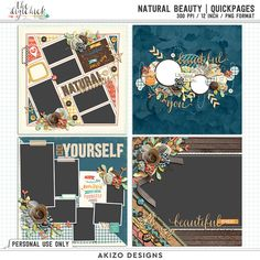 Natural Beauty | Quickpages by Akizo Designs - For Digital Scrapbooking Page