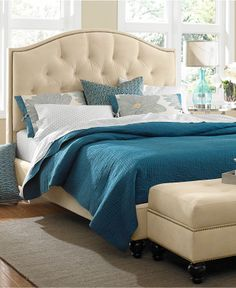 Love the bed, and bedroom colors