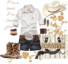 Country fashion love those boots. My style Country Girl Style, Country Fashion, Country Outfits, Country Girls, Southern Style, Country Chic, Country Wear, Farm Outfits, Southern Outfits