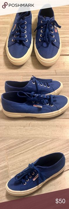 f72d0e81482e Superga Royal Blue Sneakers Superga Sneakers Royal Blue Italian Brand Worn  Once Immaculate Condition Size 38