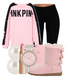 """""""C H A N E L"""" by honey-cocaine1972 ❤️ liked on Polyvore featuring Victoria's Secret PINK, Henri Bendel, Charlotte Tilbury, Michael Kors, women's clothing, women, female, woman, misses and juniors"""