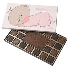 #Baby #Girl Just Add Text 45 Piece Assorted #Chocolate Box