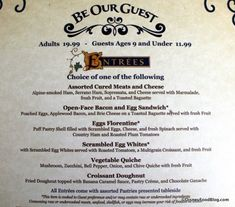 Be Our Guest Full Breakfast Review