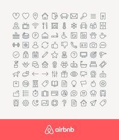 Airbnb App Icons by Zach Roszczewski