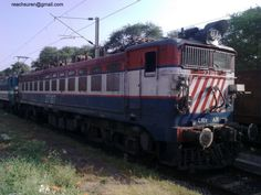 A railway engine belonging to the Central Railways region of Indian Railways. Clicked in Madhya Pradesh