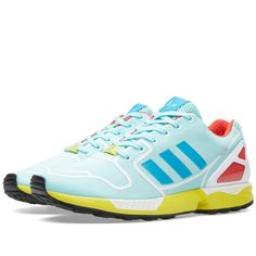 size 40 164b6 32c15 Buy the Adidas ZX Flux Techfit in Clear Aqua   Bold Aqua from leading mens  fashion retailer END.