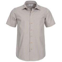 Trachtenhemd kurzarm in Beige von Almsach Slim Fit, Arm, Button Down Shirt, Men Casual, Mens Tops, Shirts, Fashion, Chic, Arms