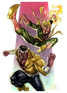 comicbookartwork: Iron Fist and Luke Cage by Thony Silas Dias de Aguiar Comic Book Characters, Marvel Characters, Comic Character, Comic Books Art, Comic Art, Book Art, Marvel Comics Art, Marvel Comic Universe, Marvel Heroes