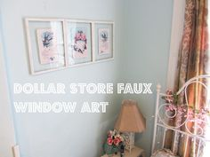 Faux Window tutorial using cheap picture frames - line these with acrylic roll mirror, mount up high, to make faux clerestory window mirrors to reflect light into the room/expand perceived size. Or: back with translucent paper, put no-heat LED lights behind for a window effect.